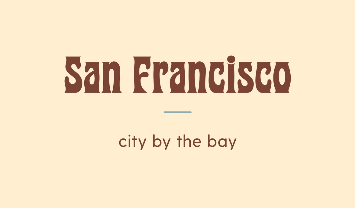 San Francisco title card