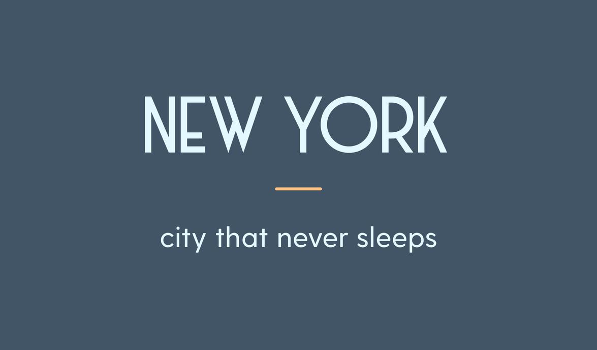 New York City title card