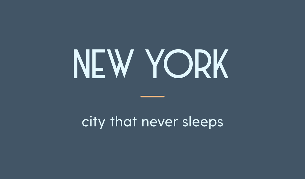 New York City title card