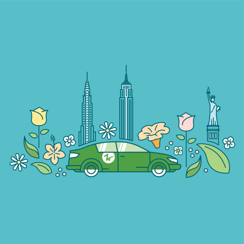 Nick Gianetti earth day graphic design work for Zipcar