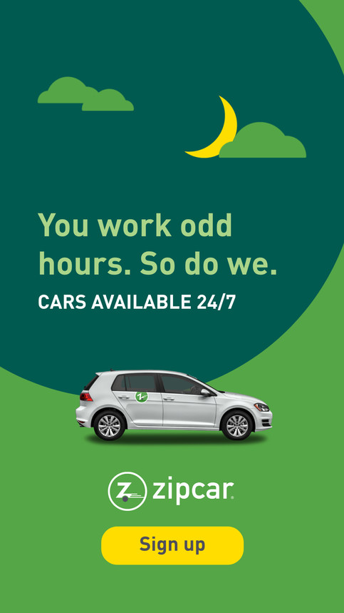 Nick Gianetti graphic design work for Zipcar