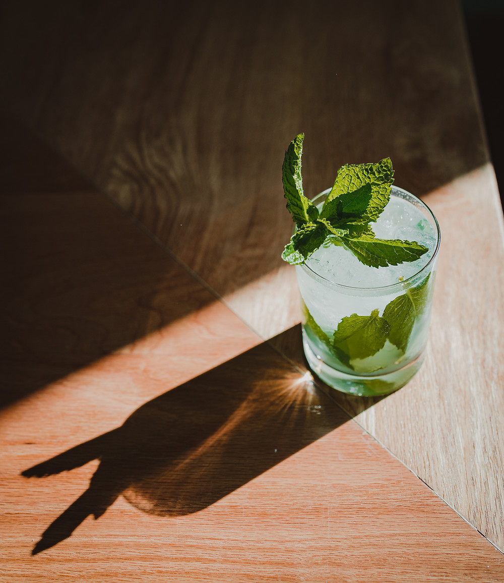 a mojito from the Pearl and Lime restaurant