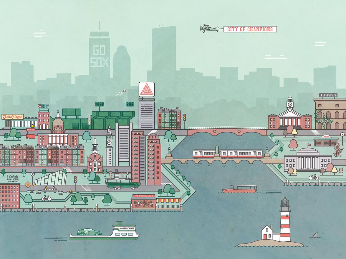 Boston city illustration
