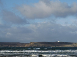 Looking across Dunnet Bay to the house