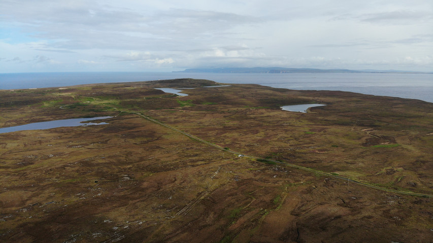 Dunnet Estate with the Orkney's in the distance
