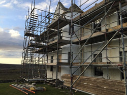 Scaffolding to replace the harling
