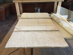 Traditional harling has many layers and is very insulating