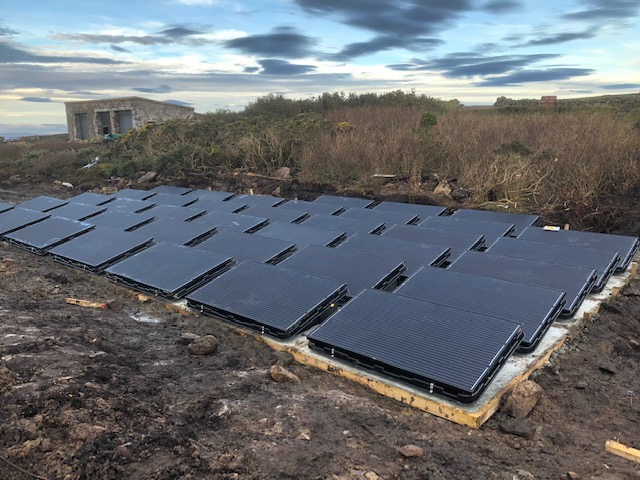 Solar panels to power the house