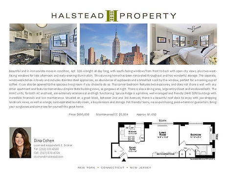 245 East 25th Street, 10G with Floorplan
