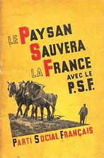 parti social francais-le paysan sauvera