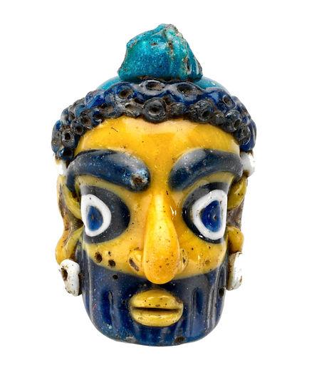carthage-masque pendentif-verre-IVe s-mu