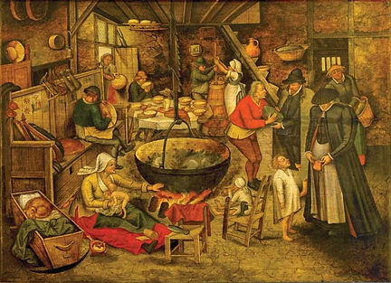 brueghel-l-ancien-visite a la ferme-1597