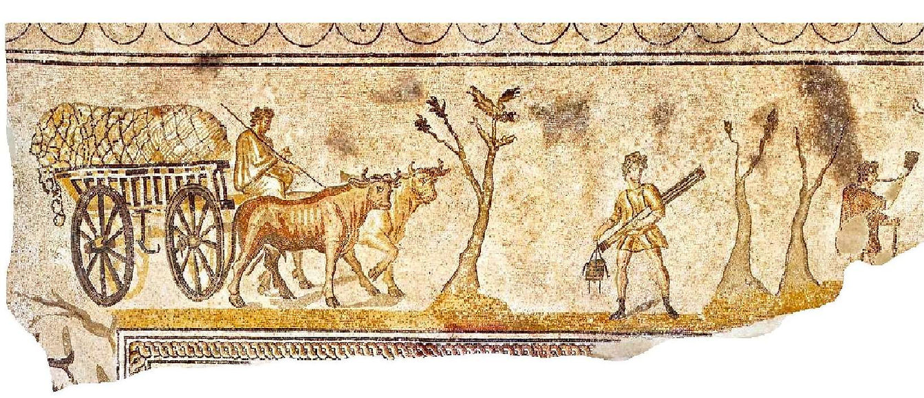 paysans-chariot-boeufs-mosaique-orbe-bos