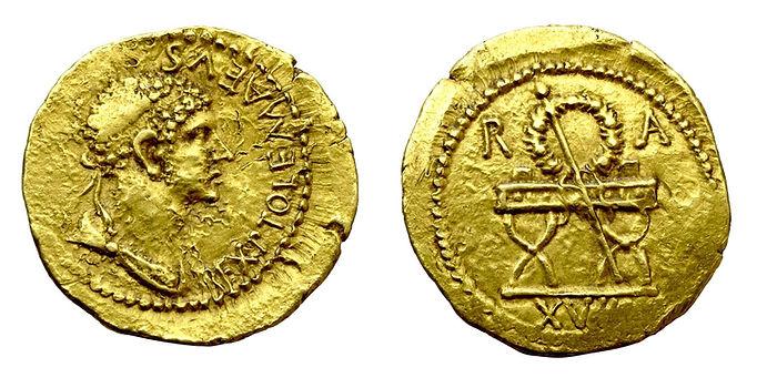 monnaie or-aureus-ptolemee de mauretanie