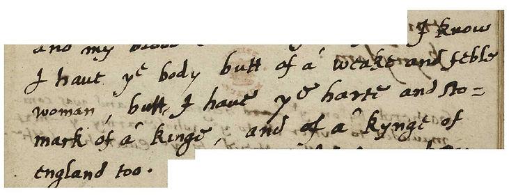 elisabeth I - discours tilbury - 1588- d