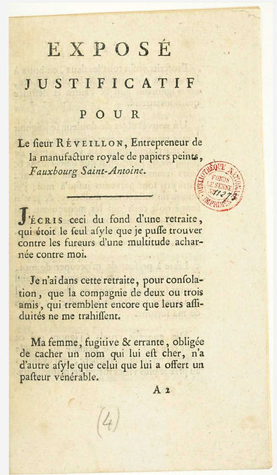 reveillon--expose justificatif-mai 1789.