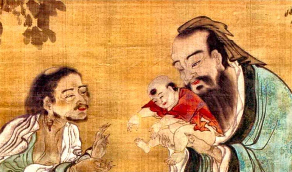 confucius presentant le bouddha gautama a klao-tseu -dynastie qing.jpg
