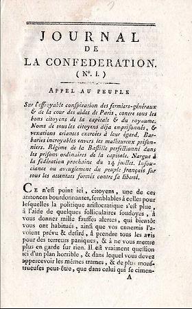 babeuf-journal de la confederation n°1-1