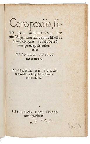 stiblin-gaspard-page titre edition 1555-