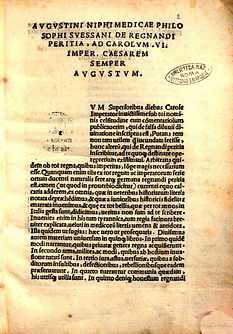 Augustini Niphi, De regnandi peritia...1523