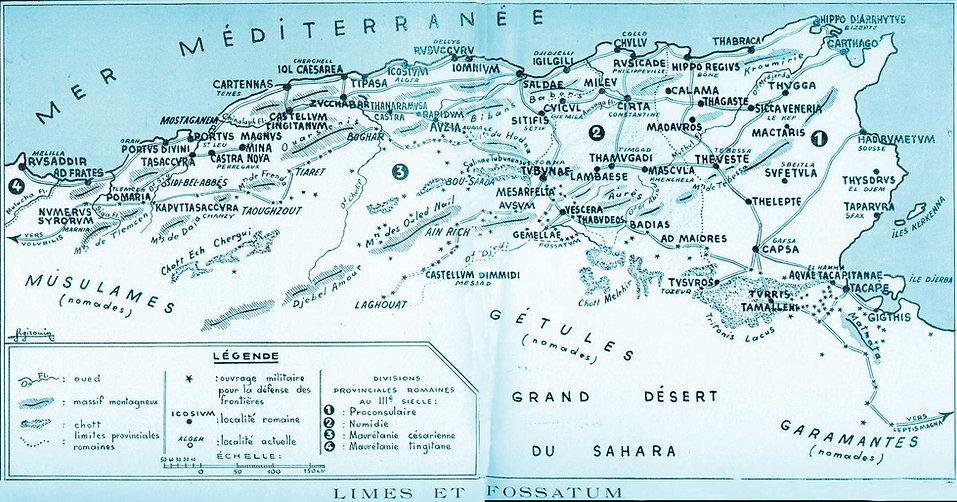 afrique romaine IIIe s-carte mauretanie