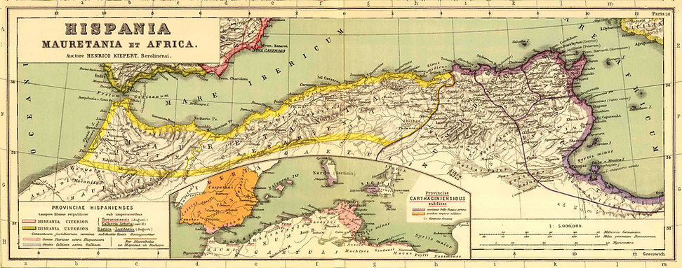 afrique-romaine-carte-hispania mauretani
