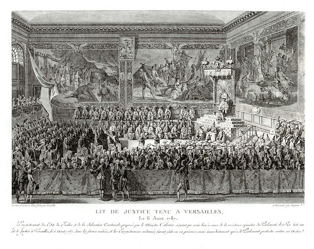Louis XVI- lit de justice-6-08-1787-vers