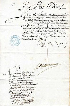 lettre de cachet-Pierre d'Aubert de Rési