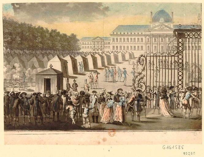 champ de mars-12 juillet 1789-estampe- b