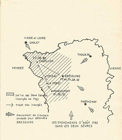 vendee-guerre-aout 1792-bressuire-chatil