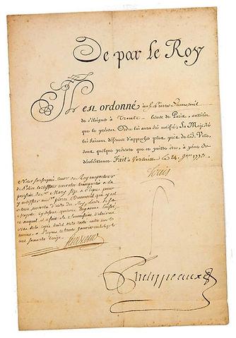 lettre de cachet-exil-pierre dumesnil-lo