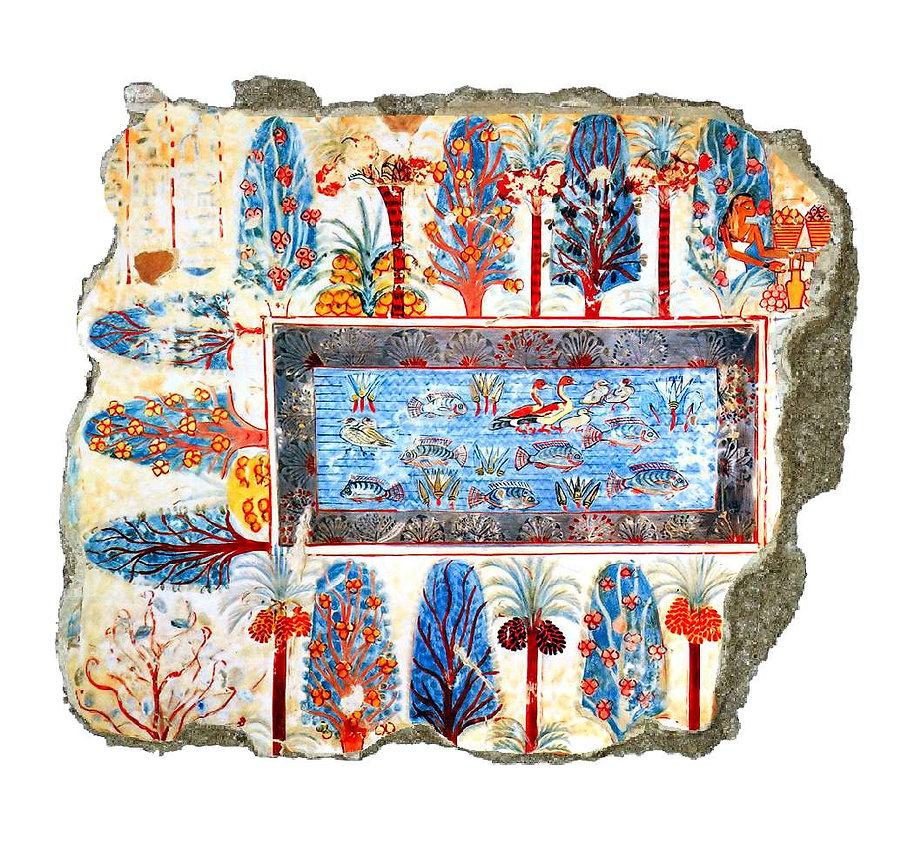 nebamon-tombe-fresque-jardin-bassin-theb
