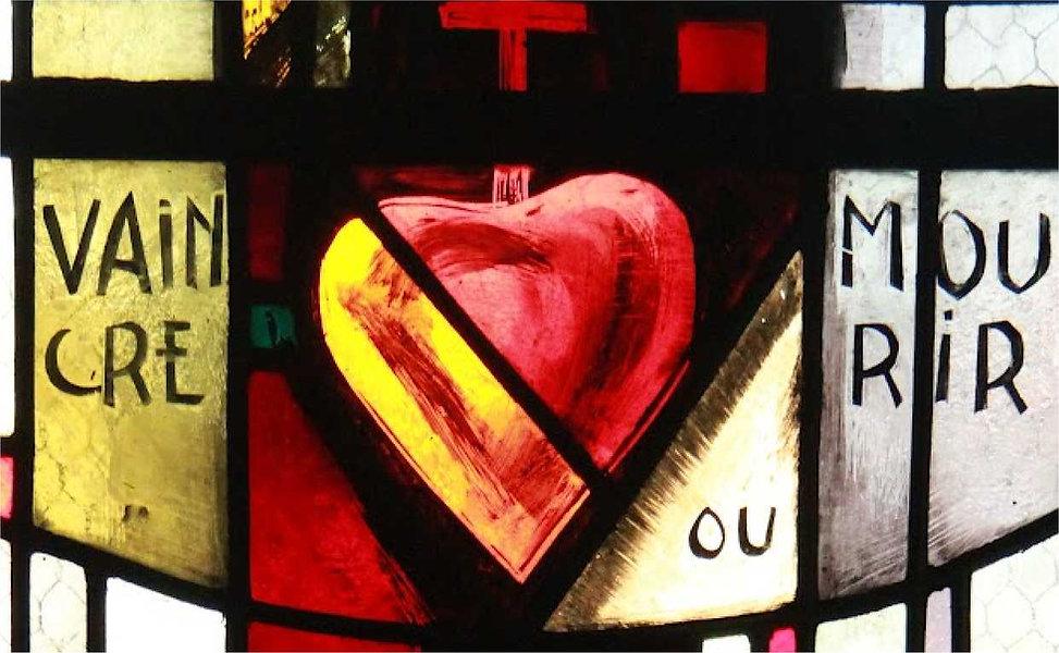 vendee-guerre-chanzeaux-vitrail coeur st