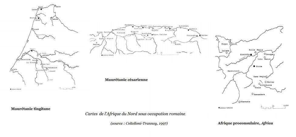 carte afrique du nord romaine - mauretan