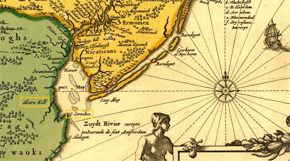 carte-visscher nicolas-1685-novi belgii.
