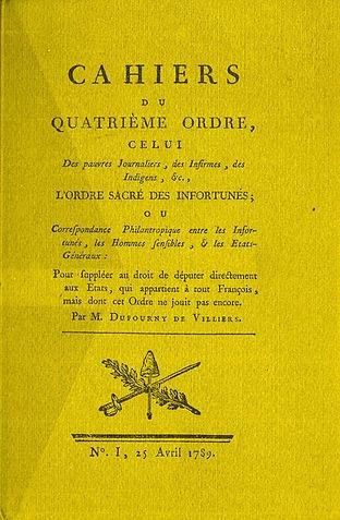 dufourny de villiers-cahiers du quatriem