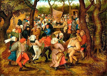 brueghel-l-ancien-danse de mariage-1566-