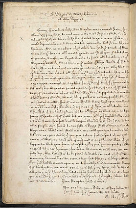 manifeste diggers Warwick- 1607 - britis