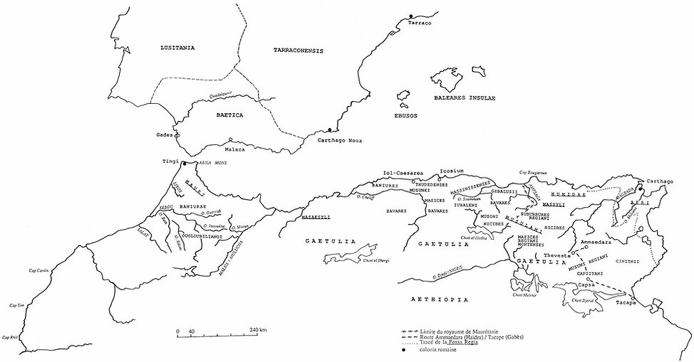 afrique du nord antique - carte peuples