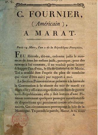 fournier-americain-marat-14 mars an II-