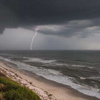 Gewitterfront in Melbourne (Florida)