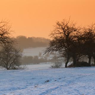 Winterlandschaft bei Niedernhausen, Hessen