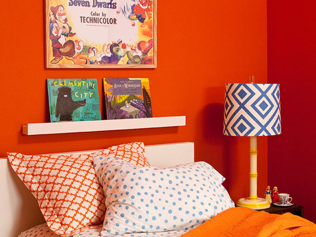 Home decor ideas in pakistan - orange bedroom