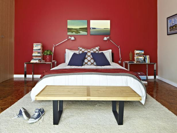 Home decor ideas in pakistan - red bedroom
