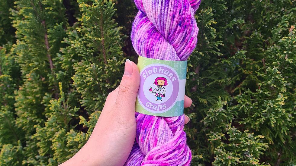 Purple flower bouquet 16.5