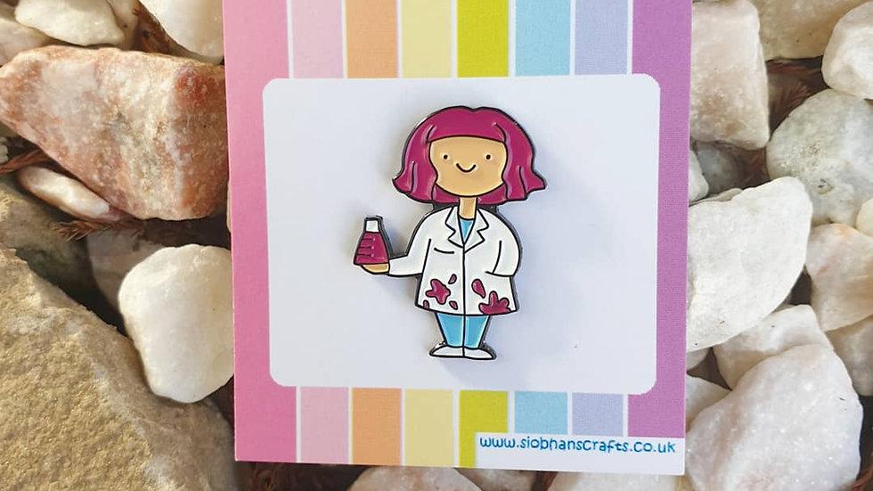 Dr Neon enamel pin