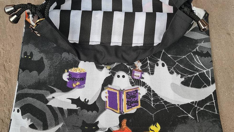 Black ghost  project bag + stitch marker