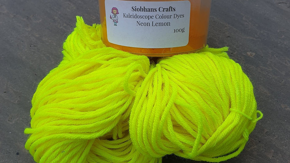 Neon Lemon Acid Dye
