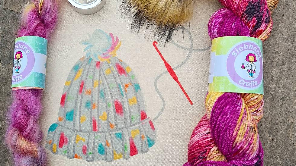 Crochet Hat Kit - Warm Embrace