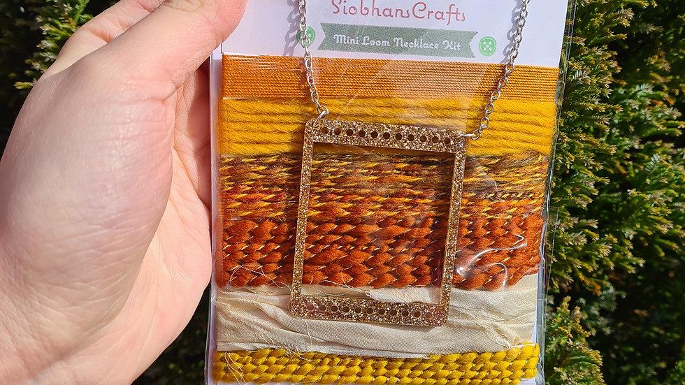 Mini loom necklace kit - Warmth